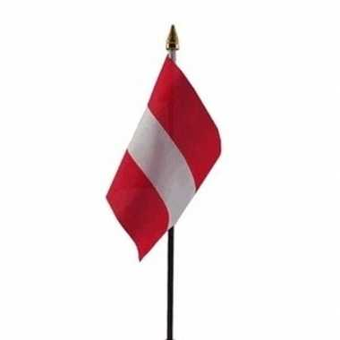 Oostenrijk vlaggetje met stokje
