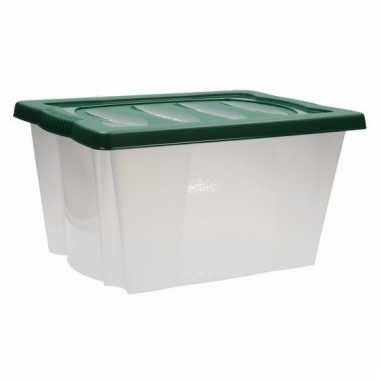 Opberg box met vakjes groen
