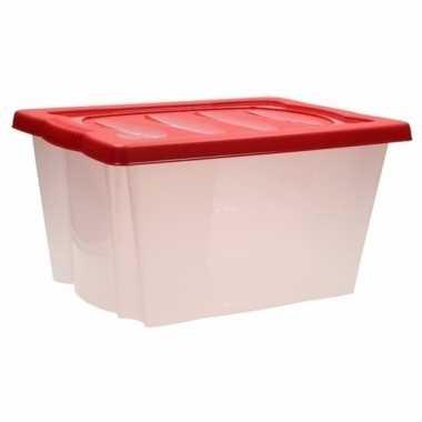 Opberg box met vakjes rood