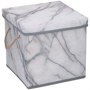 Opberg box / opberg doos marmer 23 cm 12 liter