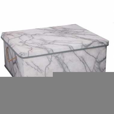 Opberg box / opberg doos marmer 50 cm 44 liter