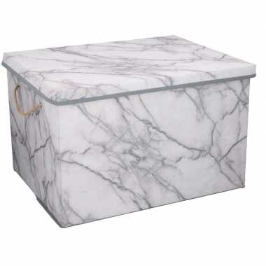 Opberg box / opberg doos marmer 50 cm 66 liter