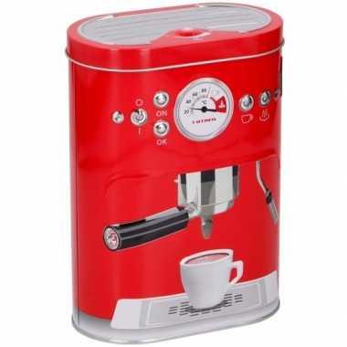 Opbergblikken voor koffiecups rood 17 cm
