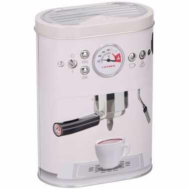 Opbergblikken voor koffiecups wit 17 cm