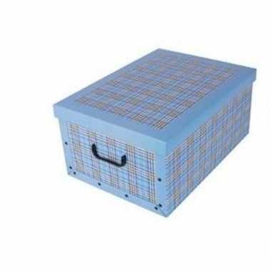 Opbergbox/opbergdoos blauw 53 x 38 cm
