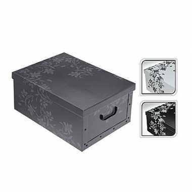 Opbergbox/opbergdoos grijs 52 x 38 cm