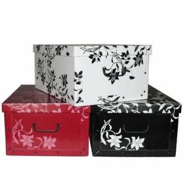 Opbergbox/opbergdoos wit 52 x 38 cm