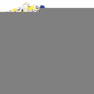 Opbergtas/dekentas citroen print 55 x 48 cm
