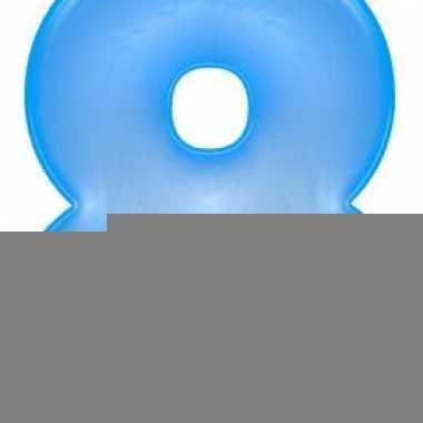 Opblaas cijfer 8 blauw