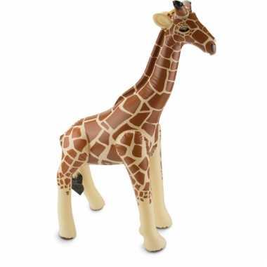 Opblaas giraffe 74 x 65 cm