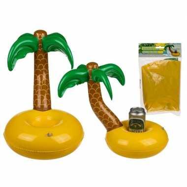 Opblaas palmboom drankjes houder 35 cm