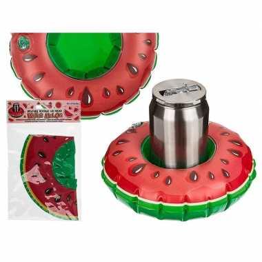 Opblaas watermeloen drankjes houder 18 cm
