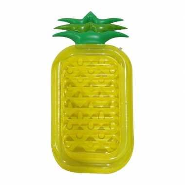 Opblaasbaar ananas luchtbed 90 x 195 cm