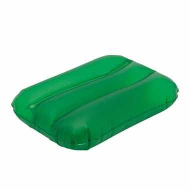 Opblaasbaar bad nekkussentje groen