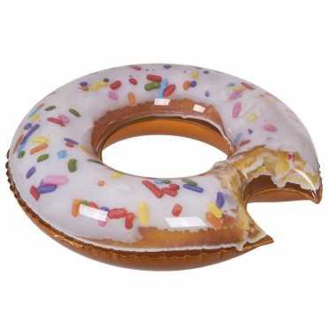Opblaasbaar donut zwemband/zwemring 100 cm