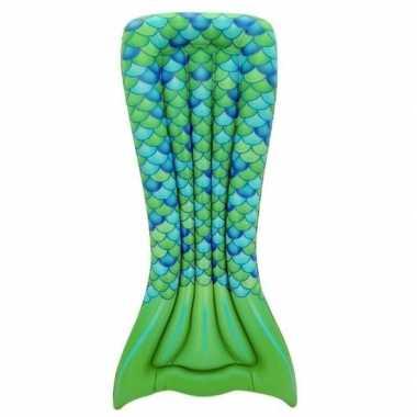 Opblaasbaar luchtbed zeemeermin staart groen 173 x 83 cm