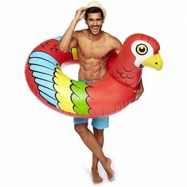 Opblaasbare ara papegaai xxl zwemband 120 cm