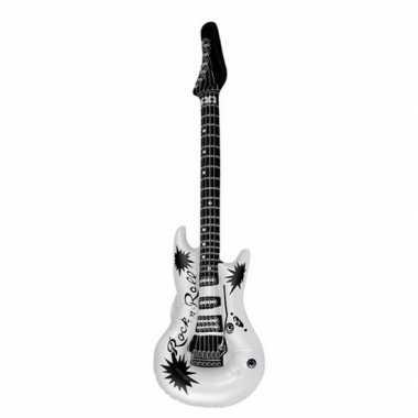 Opblaasbare gitaar wit 106 cm