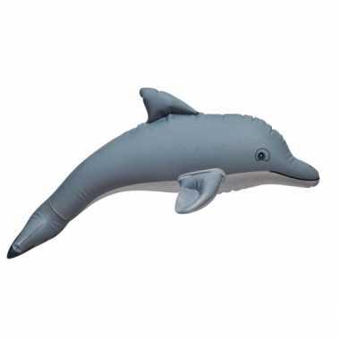 Opblaasbare grijze speelgoed dolfijn 51 cm