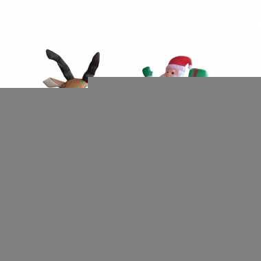 Opblaasbare kerstman op slee 180 cm
