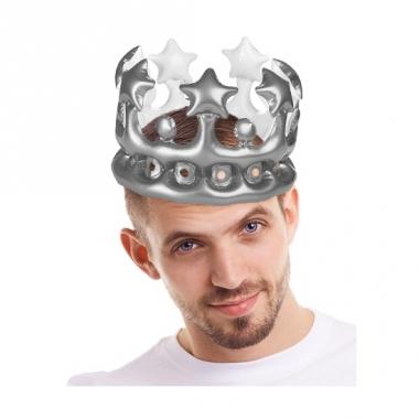 Opblaasbare kroon zilver 23 cm