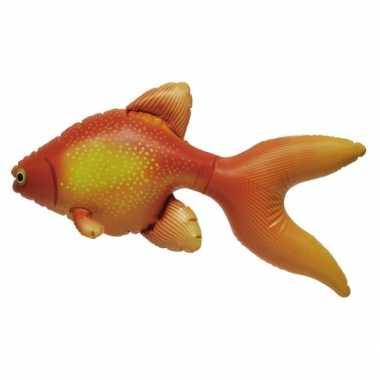 Opblaasbare oranje speelgoed goudvis 51 cm