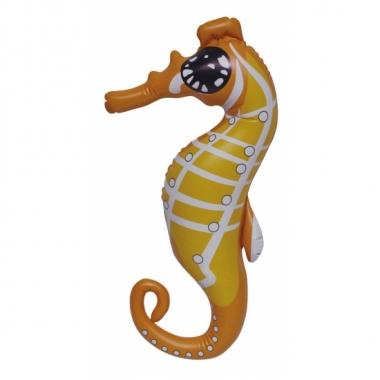 Opblaasbare oranje speelgoed zeepaard 51 cm