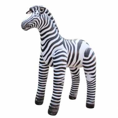 Opblaasbare speelgoed zebra 81 cm