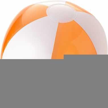Opblaasbare strandballen oranje/wit