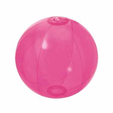 Opblaasbare strandballen roze