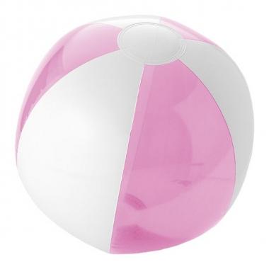 Opblaasbare strandballen roze/wit