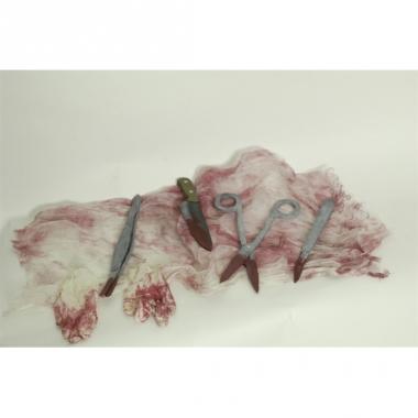 Operatie set met bloed