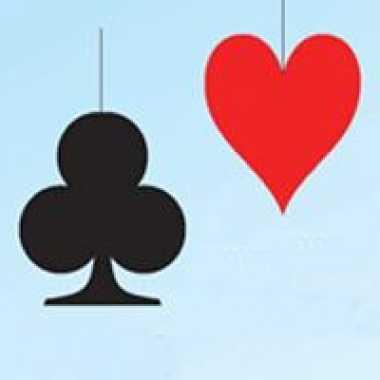 Ophang decoratie rode harten