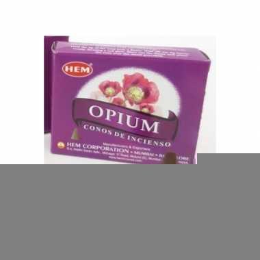 Opium wierook kegeltjes 10 stuks