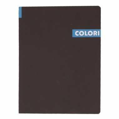 Opschrijfboek b5 96 blauwe vellen met lijntjes