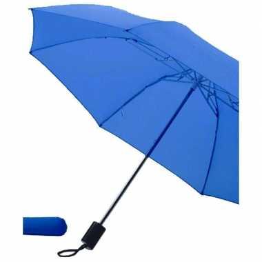 Opvouwbare paraplu blauw 85 cm