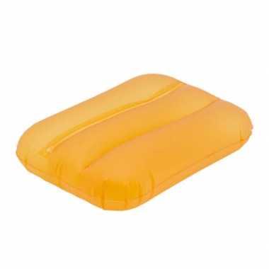 Oranje bad kussentje opblaasbaar
