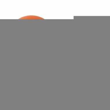 Oranje ballon met maracas effect