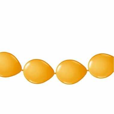 Oranje ballonnen slinger 3 meter