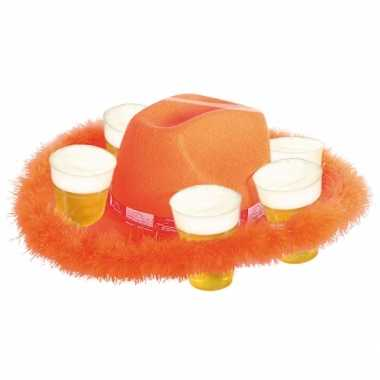 Oranje bierhoeden met bondrand