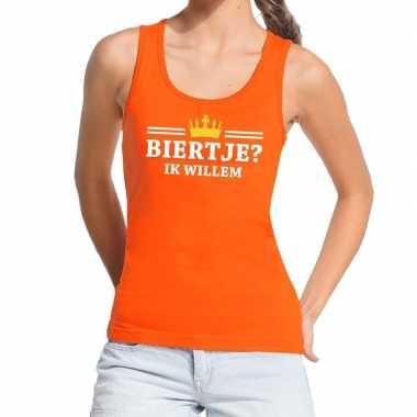 Oranje biertje ik willem tanktop / mouwloos shirt dames