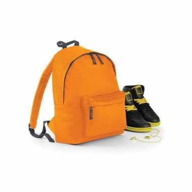 Oranje boekentas rugzak voor kinderen
