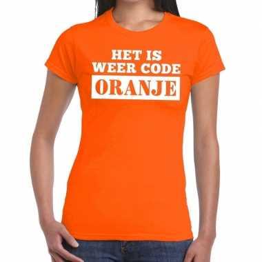 Oranje code oranje shirt dames