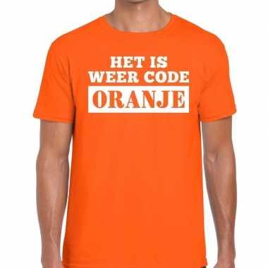 Oranje code oranje t-shirt heren