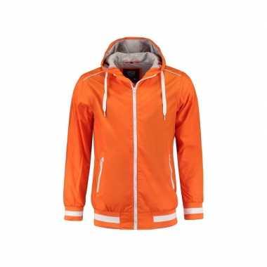 Oranje dames jasje met caouchon nylon
