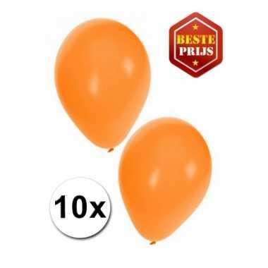 Oranje decoratie ballonnen 10 stuks