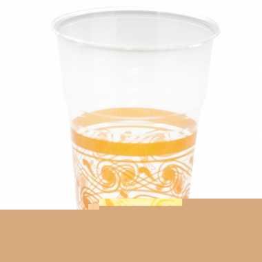 Oranje decoratie bekers 10 stuks