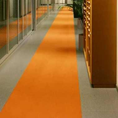 Oranje decoratie loper 1 meter breed