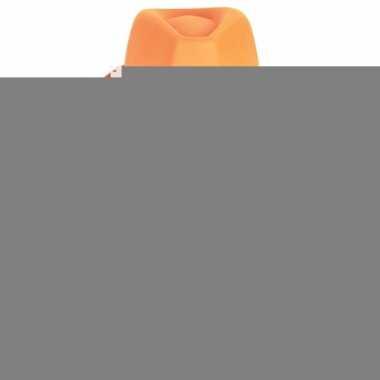 Oranje feest hoeden met zilveren steentjes