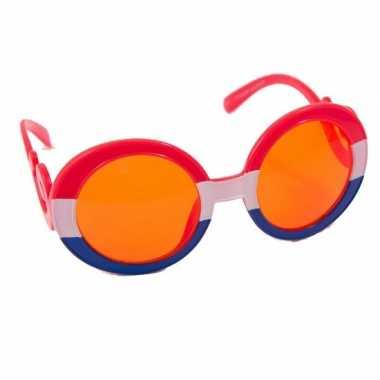 Oranje glazen bril holland